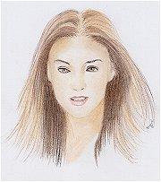 Handwerk kunst. Schilderij portret tekening
